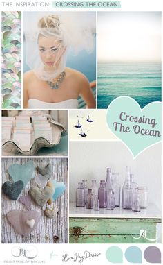 Crossing the Ocean Bridal Inspiration Board by www.pocketfulofdreams.co.uk