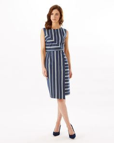 Phase Eight Alexandra Stripe Dress Blue