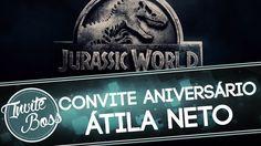 Convite Animado Aniversário (Jurassic World) - Átila Neto
