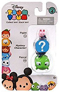 "Amazon.com: Disney Tsum Tsum Series 4 Piglet & Pascal 1"" Minifigure 3-Pack: Toys & Games"