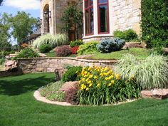 I am a retaining wall fan!  Love adding the different levels and working in the natural stone