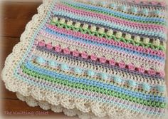 Crochet Baby Blanket Pattern Sweet mix of color and stitches. Very easy to make using basic crochet stitches. Pattern includes detailed instructions and many pictures. Instantly download PDF pattern.