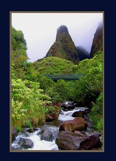 lao Needle, Maui, Hawaii - drove to it and flew over it...both are beautiful!