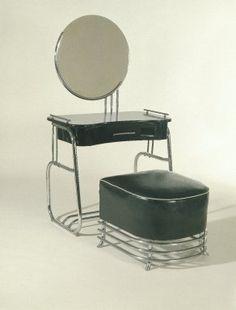 Vanity with Mirror  Designer: Kem Weber, American, born Germany, 1889-1963  Manufacturer: Lloyd Manufacturing Company  Medium: Chrome-plated tubular steel, wood, glass  Place Manufactured: Menominee, Michigan, USA  Dates: 1934