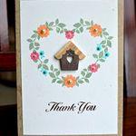 Muse card - Folk Art Florals?  So cute!