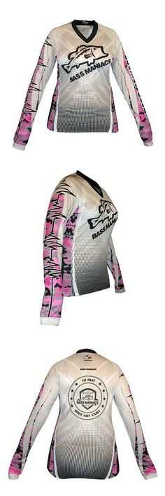 Shirts and Tops 179982: Women Bass Maniacs Fishing Pink Camo Performance Shirt Tournament Jersey Bass -> BUY IT NOW ONLY: $39.99 on eBay!