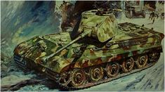 """Pzkpfw-VI Ausf.B """"Tiger-II"""" w/ pre-series production turret commonly known as the """"Porsche"""" turret."""