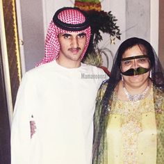 Rashid bin Mohammed bin Rashid Al Maktoum y Mama Nora. Vía: mamanooora