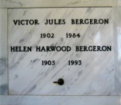The founder of the Trader Vic's chain, Victor Jules Bergeron, is interred with his wife Helen in the Mausoleum at Mountain View Cemetery. You will find them on the bottom floor at about eye level, near the west-facing end entrance. If you visit, be su...