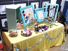 Beautiful set up for a craft show More