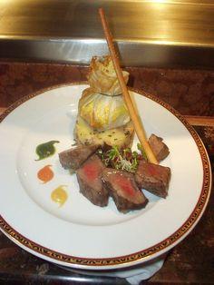 Steak dish aboard Carnival Cruise