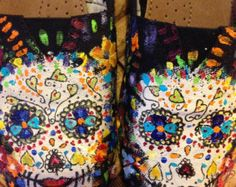 Sugar Skulls Day of the Dead hand painted TOMS by dreaminbohemian