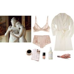 Aphrodite by stradlatersgirl on Polyvore featuring Carine Gilson, La Perla, Rochas, French Girl and Chanel