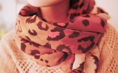 Scarves are a daily must, pink & leopard...yes please!