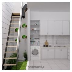 We'll give to you the Minimalist living room tomake your home better with the design you've never seen before. Take a look and enjoy the inspiring design Laundry Room Design, Home Room Design, Home Interior Design, Minimalist House Design, Minimalist Living, Outdoor Laundry Rooms, Farmhouse Interior, Farmhouse Furniture, House Rooms