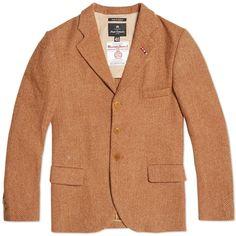 Nigel Cabourn Wide Lapel Jacket (Ginger Harris Tweed)
