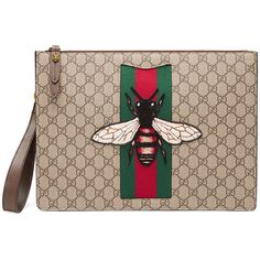 0d165f022 Gucci GG Supreme men's bag with bee (4.100 BRL) ❤ liked on Polyvore  featuring