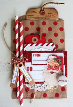 AnMa.no - Blog - Paperbag Christmas Card created by Dt Bente.