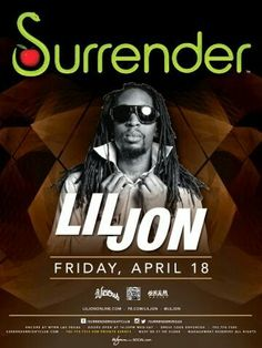 Lil Jon at Surrender Las Vegas Nightclub Friday April 18th. 702.741.CITY(2489) CITY VIP CONCIERGE for Tables, Bottles, Tickets, VIP Services and the very BEST of Any & Everything Fabulous in Las Vegas!!! #SURRENDERNightclubLasVegas #VegasNightclubs #CityVIPConcierge CLICK OR CALL FOR TICKETS www.CityVIPConcierge.com