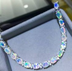 Fashion opal sterling silver bracelet