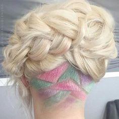 Rainbow carved hair
