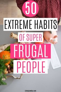 Have you been wanting to save money but don't know where to start? These 50 genius frugal living tips include things like budgeting, starting an emergency fund, implementing the cash envelope system, and many other ideas that will have you saving money. Are you ready to take frugal living to the next step?