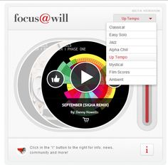 focus@will is a new music service (free for now) that helps you focus and retain information when working, studying, writing and reading. Founders recommend you only use the service when you need to focus and get something done. If you only use for productivity enhancement, over time a Pavlovian conditioning effect starts to kick in and the effectiveness of the system increases significantly because your brain associates the focus@will music with the action of concentrating.