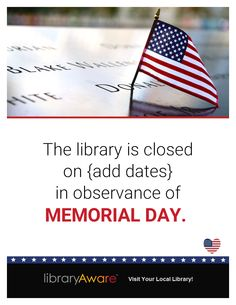memorial day closed flyer