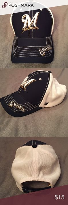 Milwaukee Brewers hat Women's Milwaukee Brewers hat. Great condition. Light makeup stains inside the hat canny be seen outside Accessories Hats