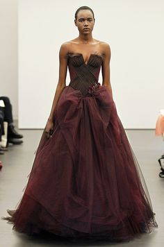 Vera Wang purple wine #wedding dress, Spring 2013.
