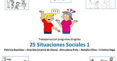 Trabajamos 25 situaciones sociales - primera parte :El sonido de la hierba al crecer | TEA:GUIONES SOCIALES | Pinterest