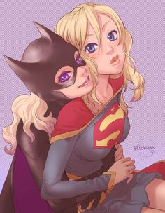 Batgirl and Supergirl