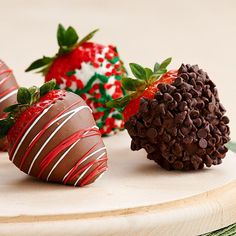 Pin for Later: The Best New Food Products For December Shari's Berries Half Dozen Gourmet Dipped Christmas Strawberries
