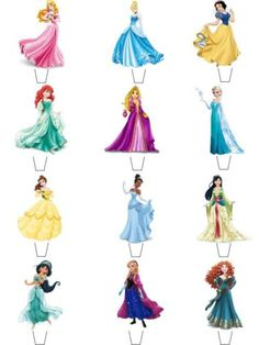 12-x-Disney-Princess-STAND-UPS-Fairy-Cup-Cake-Toppers-Edible-Rice-Wafer-Paper