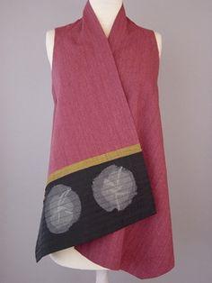 Juanita Girardin: Round Neck Oversized Kimono with Pleated Ripples