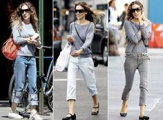 Sarah Jessica Parker in an Alternative Apparel eco-heather slouchy pullover