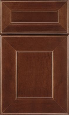 Brenner cabinet doors feature flat-panel doors and a beveled inside profile that soothes the squareness of the door perimeter.