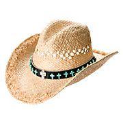 d964efa45e4 Charlie 1 Horse Outlaw Blanket Print Palm Leaf Hat