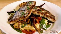 Yardbird's Cast Iron Seared Yellowtail Snapper with Fresh Vegetables and Citrus Vinaigrette #TheChew