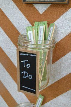 Get Organized in 2014: Make a Popsicle Stick & Mason Jar Chore Chart! -- Tatertots and Jello