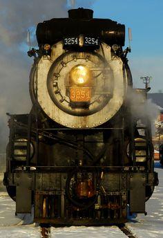 Steam engine.