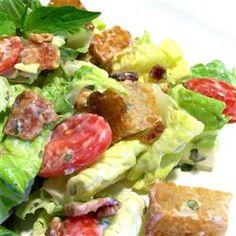 B.L.T. Salad with Basil Mayo Dressing Allrecipes.com