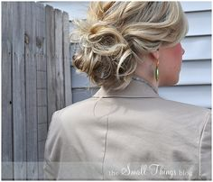 tutorial on how to do a natural-looking updo - @pwallabee we could totally do this if you like the look!
