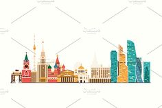 Moscow skyline - Illustrations