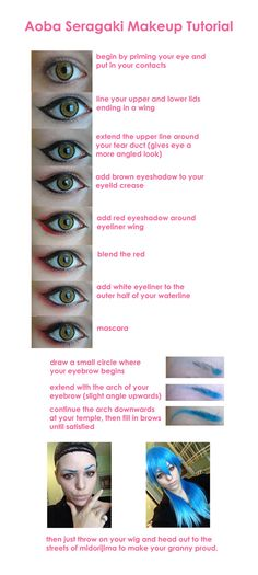 Aoba Seragaki Makeup Tutorial by yirico on DeviantArt