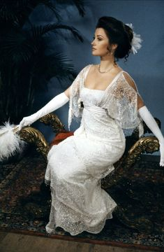 Somewhere in Time movie gown. Has over 5000 beads sewn on. Shortly after this photo was taken the gown was taken and never seen again.