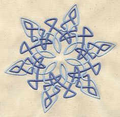 Embroidery Designs at Urban Threads - Celtic Snowflake Unique Symbols, Celtic Symbols, Celtic Art, Celtic Knots, Mayan Symbols, Egyptian Symbols, Ancient Symbols, Embroidery Designs, Machine Embroidery Patterns