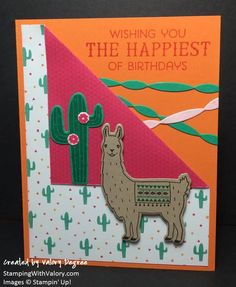 Stampin' Up! Birthday Fiesta set, Fiesta Time Framelits dies, Festive Birthday Designer Series Paper.