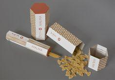 by Agnieszka Sowińska, via Behance Food Packaging Design, Box Packaging, Pasta, Visual Communication, Food Design, Print Patterns, Packing, Behance, Branding