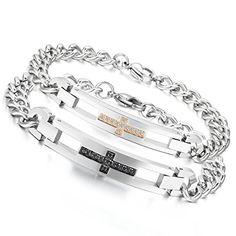 Flongo 2pcs Bracelet Acier Inoxydable Zircon Croix Prièrr... https://www.amazon.fr/dp/B017B4R8RK/ref=cm_sw_r_pi_dp_Qk8zxbH09TRR2